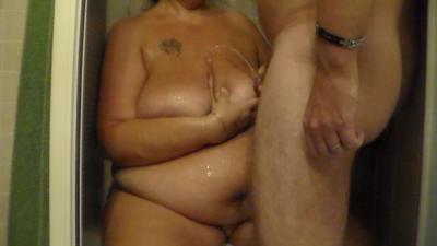 Pissing All Over Her Big Titties